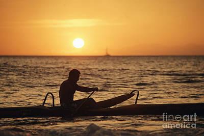 One Man Canoe Poster by Sri Maiava Rusden - Printscapes