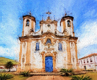 One More Church In Ouro Preto Poster by Andrea Ribeiro