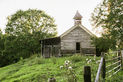 One Room School House In Country Poster