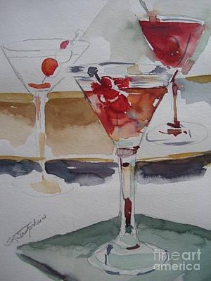 Poster featuring the painting One Too Many by Sandra Strohschein