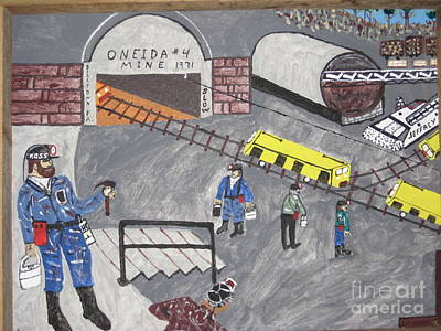 Poster featuring the painting Onieda Coal Mine by Jeffrey Koss