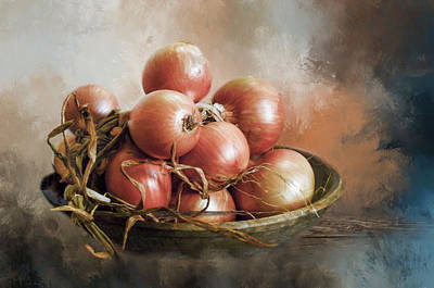 Poster featuring the photograph Onions by Robin-Lee Vieira