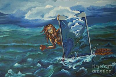 Online Mermaid Poster by Vipula Saxena