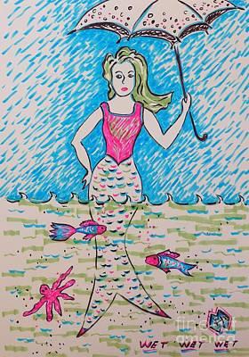 Oops Its Raining Poster by Heather McFarlane-Watson