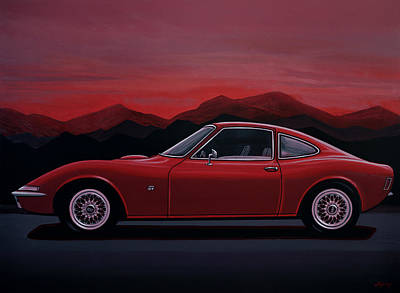 Opel Gt 1969 Painting Poster