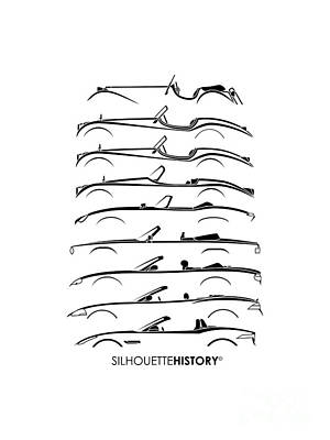 Open Big Cat Silhouettehistory Poster by Gabor Vida