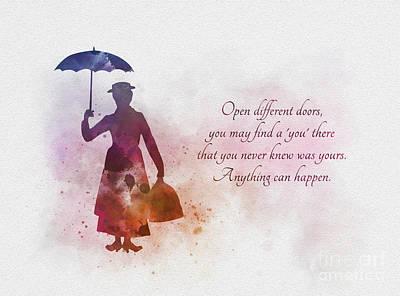 Open Different Doors Poster by Rebecca Jenkins