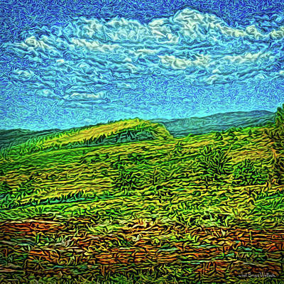 Poster featuring the digital art Open Field Dreams by Joel Bruce Wallach
