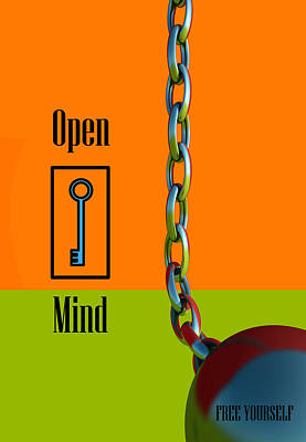 Open Mind Poster by Richard Rizzo