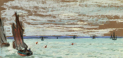 Open Sea Poster by Claude Monet