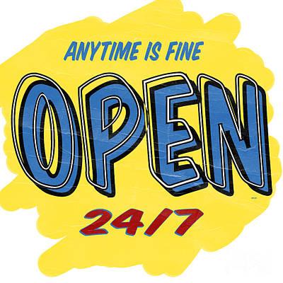 Open Sign Poster by Edward Fielding