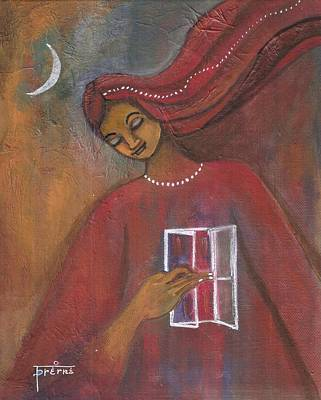 Poster featuring the painting Open The Windows To Your Soul by Prerna Poojara