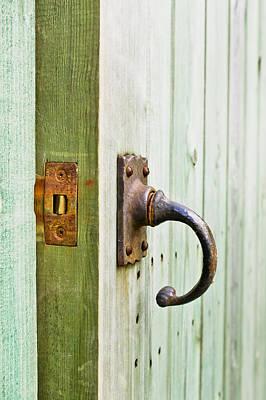 Open Wooden Door Poster