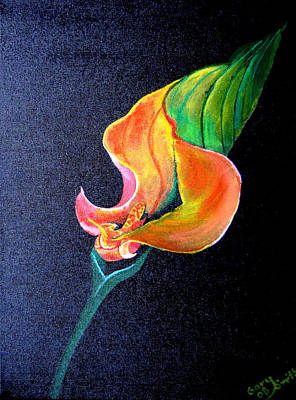Poster featuring the painting Opening Cala Lily by Gary Smith