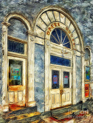 Opera House At Shepherdstown Poster by Lois Bryan