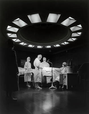 Poster featuring the photograph Operating Room Theater 1933 by Daniel Hagerman