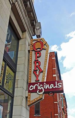 Opry Originals Sign In Nashville Tn Poster