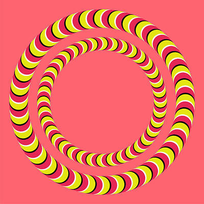 Optical Illusion Circle In Circle Poster