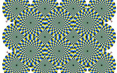 Optical Illusion Spinning Circles Poster