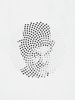 Poster featuring the digital art Optical Illusions - Iconical People 2 by Klara Acel