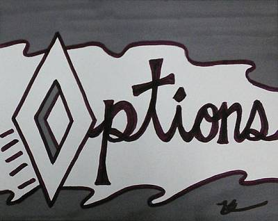 Options Poster by Kat Haus Designs
