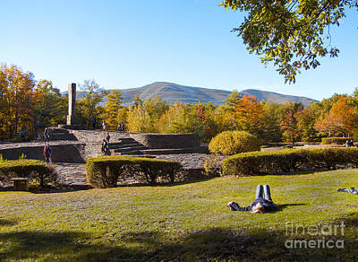 Opus 40 In Autumn Poster by Phil Welsher