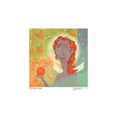 Orange Angel Poster Poster by Dennis Wunsch