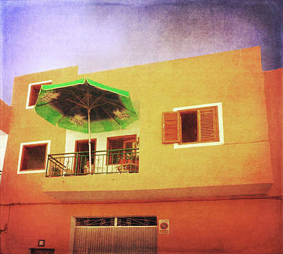 Poster featuring the photograph Orange Apartment, Alcala by Anne Kotan