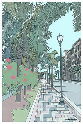 Poster featuring the digital art Orange Avenue by Megan Dirsa-DuBois
