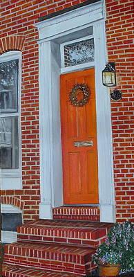 Orange Door Fells Point Poster