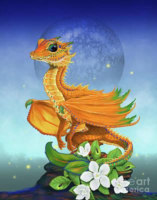 Orange Dragon Poster by Stanley Morrison