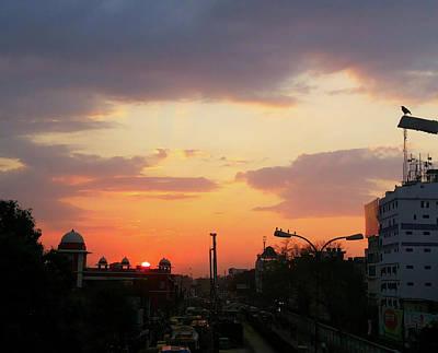 Orange Evening Sky Poster
