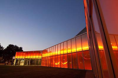 Orange Glass At Dusk Poster by Sven Brogren