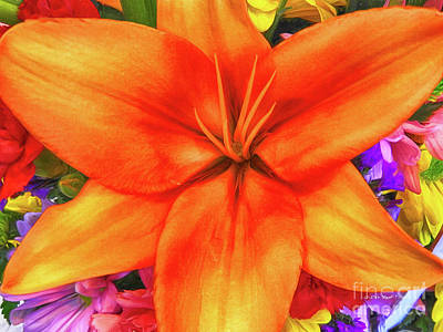 Poster featuring the painting Orange Lilly Art by Deborah Benoit