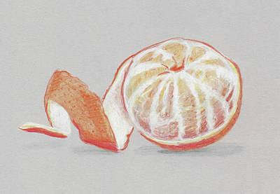 Orange Poster by Masha Batkova