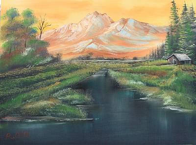 Orange Mountain Poster