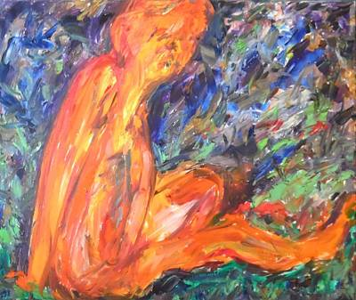 Poster featuring the painting Orange Nymph by Esther Newman-Cohen