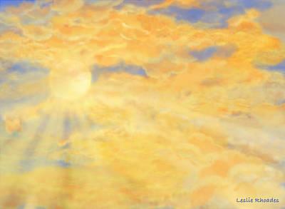 Orange Peak Poster by Leslie Rhoades
