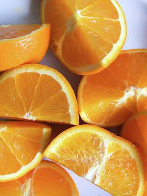 Orange Segments Poster