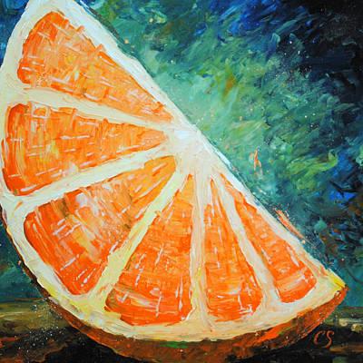 Orange Slice Poster