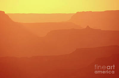Orange Sunset At Grand Canyon Poster by RicardMN Photography