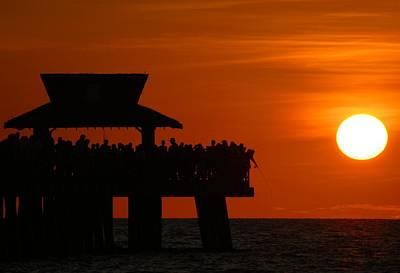 Orange Sunset In Naples Poster