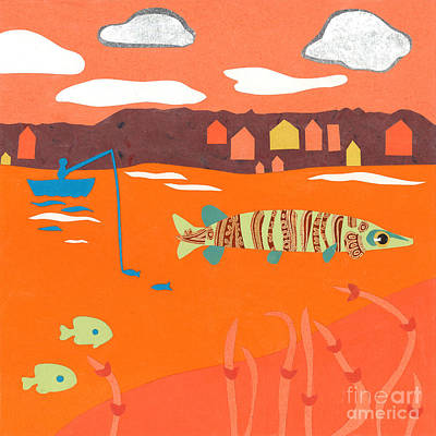 Orange Sunset Musky Poster by Laura Lynne