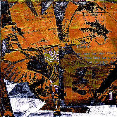 Orange Variance Poster by KA Davis