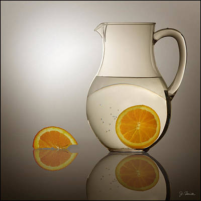 Poster featuring the photograph Oranges And Water Pitcher by Joe Bonita