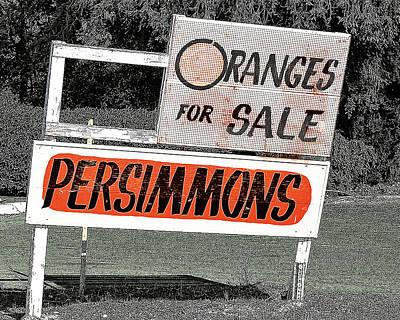 Oranges For Sale Poster by Charlette Miller