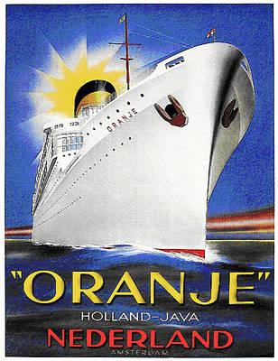 Oranje Holland-java Poster by Nick Diemel