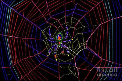 Orb Weaver Spider Poster by Betty LaRue