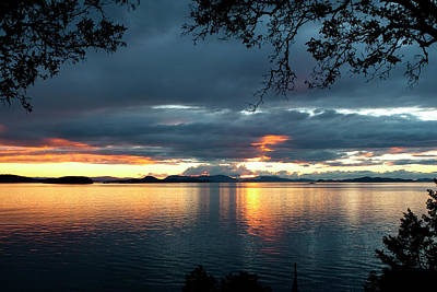 Orcas Island Sunset Poster