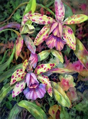 Orchid Garden I Poster